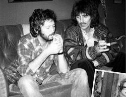 Eric Clapton et George Harrison (1980s)