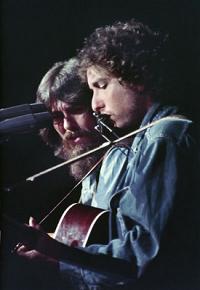 George Harrison et Bob Dylan en 1971